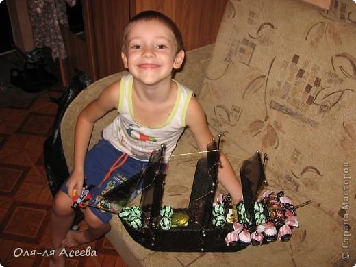Корабль сделан по МК Elena_Mayorova Спасибо вам огромное! Подарок получился шикарный, сама довольна своим творением. фото 5