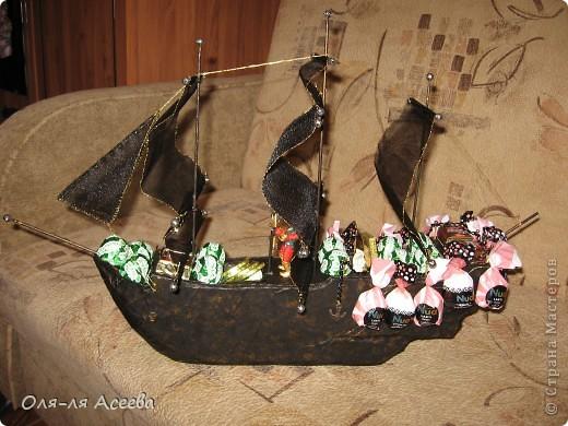 Корабль сделан по МК Elena_Mayorova Спасибо вам огромное! Подарок получился шикарный, сама довольна своим творением. фото 1