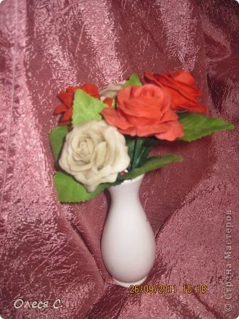 Первая моя роза из холодного фарфора размером с настоящюю))) фото 4