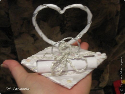 Мою  семью  пригласили  на  свадьбу ! Долго  думали  что  подарить  , и  решили  что  лучший  подарок - это  деньги ! Но  я  решила  сделать  вот  такую  открытку  в  виде  свитка. фото 4