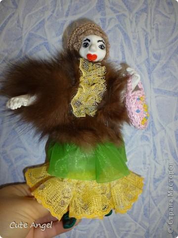 """Ну вот и """"родила"""" я свою первую куклу из пластики.Процесс оказался сложным,но все таки я это сделала!Пусть моя кукла не суперская и смешная.Надеюсь последующие будут получше.Очень это увлекательное дело =) делать кукол.Огромное спасибо за МК Ирине http://stranamasterov.ru/node/227718?c=favorite фото 1"""