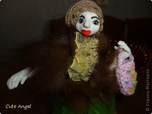 """Ну вот и """"родила"""" я свою первую куклу из пластики.Процесс оказался сложным,но все таки я это сделала!Пусть моя кукла не суперская и смешная.Надеюсь последующие будут получше.Очень это увлекательное дело =) делать кукол.Огромное спасибо за МК Ирине http://stranamasterov.ru/node/227718?c=favorite фото 2"""