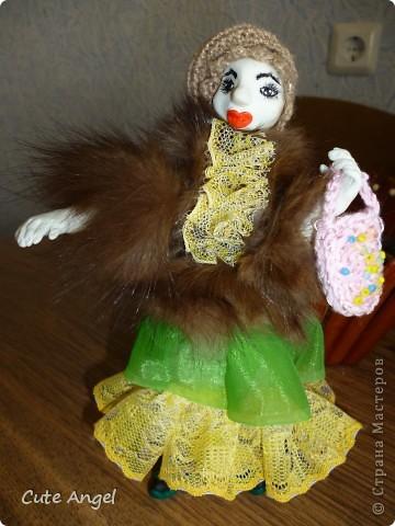"""Ну вот и """"родила"""" я свою первую куклу из пластики.Процесс оказался сложным,но все таки я это сделала!Пусть моя кукла не суперская и смешная.Надеюсь последующие будут получше.Очень это увлекательное дело =) делать кукол.Огромное спасибо за МК Ирине http://stranamasterov.ru/node/227718?c=favorite фото 3"""