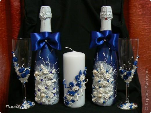 Бешено-синий наборчик для свадьбы фото 1