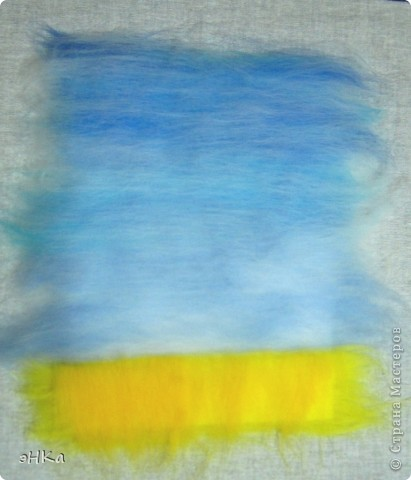 Эта картина может служить интересным подарком, при этом на создание требуется немного времени и средств. Сюжет - бескрайнее русское пшеничное поле и летнее небо над ним.  Размер работы 18х24 см. фото 5