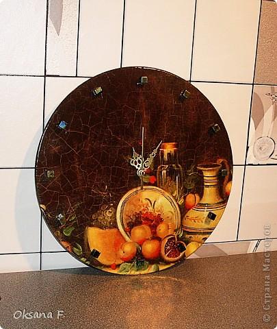 """Решила попробовать сделать часы на виниловой пластинке (""""Ничего себе диск!"""", - сказал мне сын))) фото 2"""