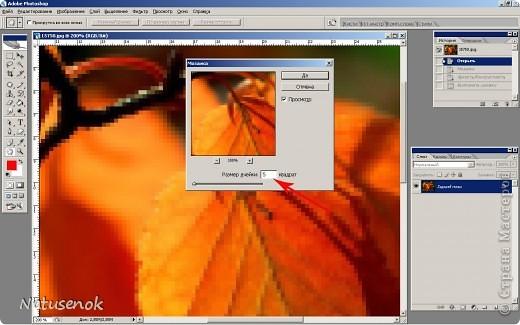Иногда очень хочется вышить что-то такое-эдакое, например автопортрет. В интернете есть много программ для создания схем, но можно создать схему и при помощи фотошопа. Главное и самое сложное потом подобрать нитки. Не знаю пригодиться ли кому МК. Буду надеяться что пригодиться... ИТАК.... Откройте картинку или фотографию в графическом редакторе фото 3