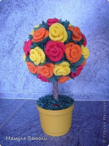 Мое самое первое цветочное дерево. фото 1