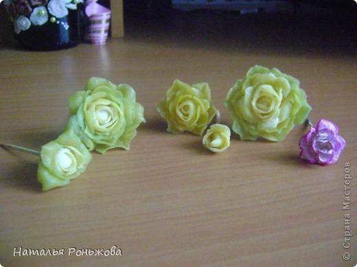 Настенное панно с букетом роз из холодного фарфора! фото 3