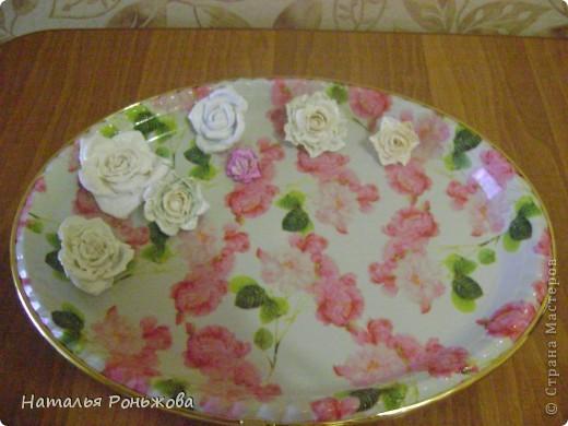 Настенное панно с букетом роз из холодного фарфора! фото 4