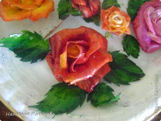 Настенное панно с букетом роз из холодного фарфора! фото 6