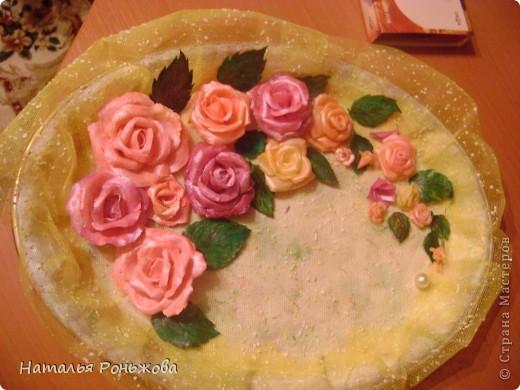 Настенное панно с букетом роз из холодного фарфора! фото 7