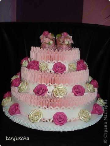 Давно хотела сделать такой тортик и вот мечта сбылась. МК тортика тут http://stranamasterov.ru/technics/cake?tid=451%2C328.Огромное спасибо за подробный МК  тортика Татьяне Просняковой фото 6