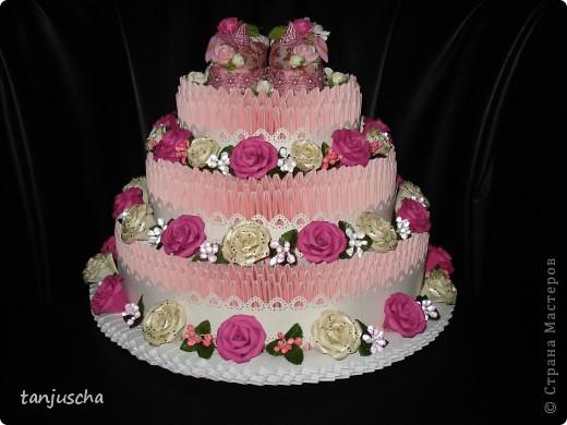 Давно хотела сделать такой тортик и вот мечта сбылась. МК тортика тут http://stranamasterov.ru/technics/cake?tid=451%2C328.Огромное спасибо за подробный МК  тортика Татьяне Просняковой фото 1