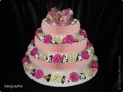 Давно хотела сделать такой тортик и вот мечта сбылась. МК тортика тут http://stranamasterov.ru/technics/cake?tid=451%2C328.Огромное спасибо за подробный МК  тортика Татьяне Просняковой фото 7