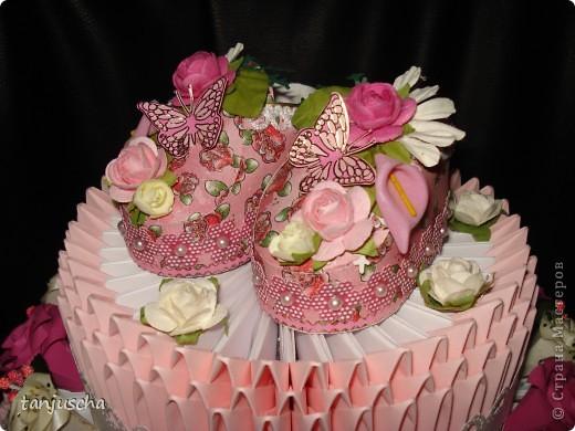 Давно хотела сделать такой тортик и вот мечта сбылась. МК тортика тут http://stranamasterov.ru/technics/cake?tid=451%2C328.Огромное спасибо за подробный МК  тортика Татьяне Просняковой фото 3