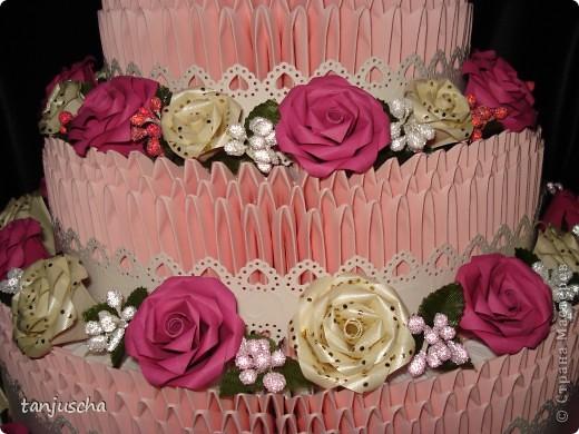 Давно хотела сделать такой тортик и вот мечта сбылась. МК тортика тут http://stranamasterov.ru/technics/cake?tid=451%2C328.Огромное спасибо за подробный МК  тортика Татьяне Просняковой фото 4
