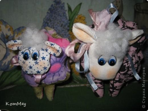 """Проболела я в эти выходные... Вот и маловат """"улов"""" оказался. Сшилось только две игрушечки - кролик и ещё одна овечка. Сейчас познакомимся.  фото 9"""
