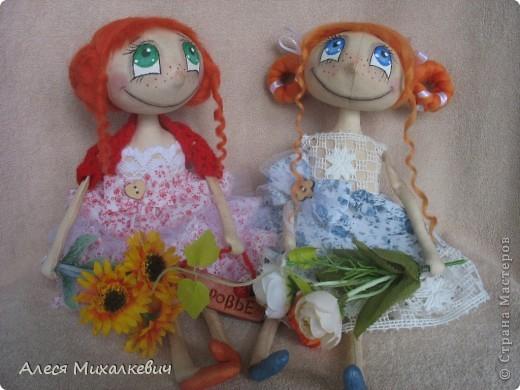 Вот, наконец-то делюсь с вами моими красотками...может нескромно, конечно...но я их обожаю, моих девочек..... Николя и Ангелиночка. Росточком все мои девчушки около 27см. фото 2