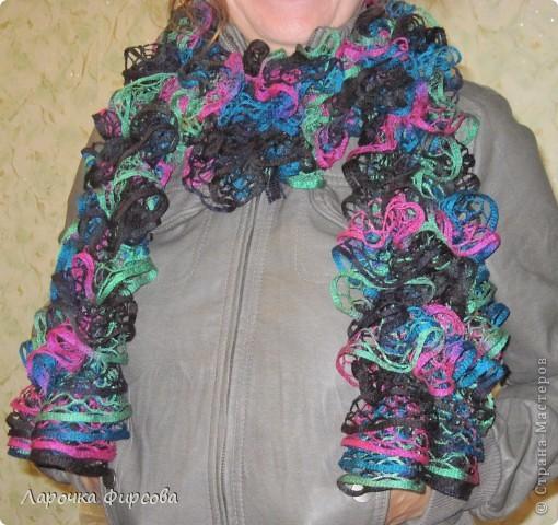 В результате у нас получится вот этот чудо-шарфик!!! фото 13