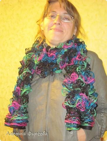 В результате у нас получится вот этот чудо-шарфик!!! фото 14