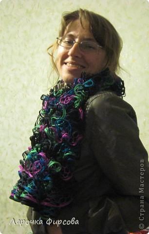 В результате у нас получится вот этот чудо-шарфик!!! фото 15