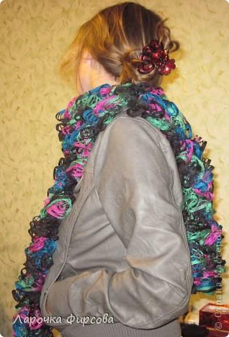 В результате у нас получится вот этот чудо-шарфик!!! фото 16