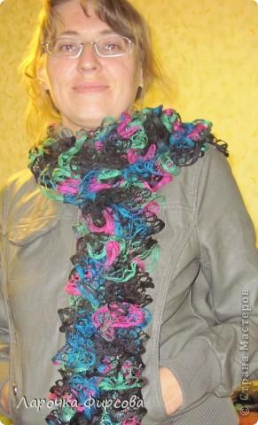 В результате у нас получится вот этот чудо-шарфик!!! фото 17
