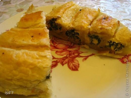 Слоеный пирог со шпинатом фото 2