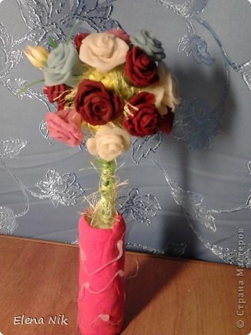 """заметила что у всех мастериц есть розовое дерево,вот и я решила """"посадить"""" свое в эту прекрасную рощу. фото 2"""