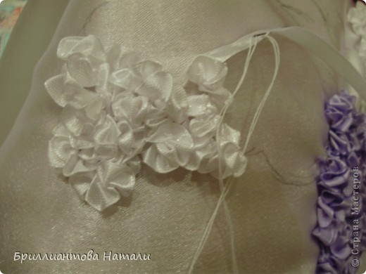 объемная вышивка лентами с