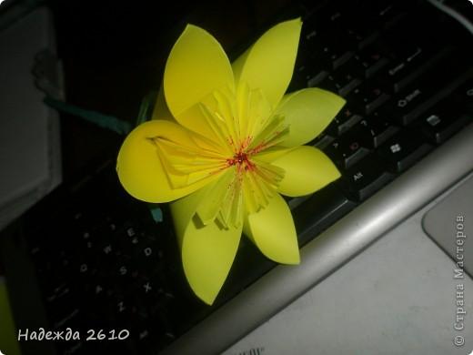 собралась собрать кусудаму, это пробный цветочек. фото 2