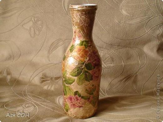 Вот нафантазировала очередную вазочку. Долго ее делала: решала, как, что, куда, в какой последовательности... фото 8