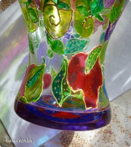 Розы в витражной вазе-очень красиво! фото 4