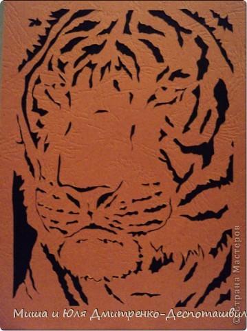 Наши друзья уже знают, что вытынанки это дело Мишиных рук. Сегодня - Его Величество Тигр!  фото 1