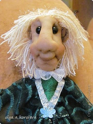 Эта кукла сделана по мотивам эльфа Елены Лаврентьевой. Я попробовала сделать что-то на проволочном каркасе. И вот что получилось. фото 5