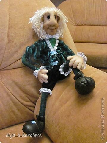 Эта кукла сделана по мотивам эльфа Елены Лаврентьевой. Я попробовала сделать что-то на проволочном каркасе. И вот что получилось. фото 8