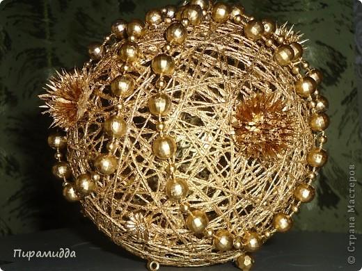 новогодние поделки своими руками шарики из ниток видео - Самоделкины
