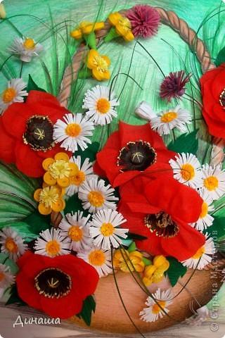 Цветы накрутила еще летом, но все не хватало времени и вдохновения собрать их вместе. Вот наконец решилась. Получилась корзина с маками. фото 6