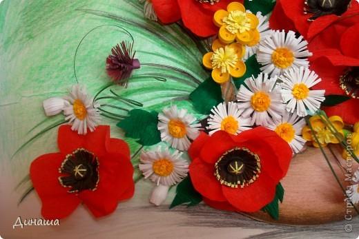 Цветы накрутила еще летом, но все не хватало времени и вдохновения собрать их вместе. Вот наконец решилась. Получилась корзина с маками. фото 2