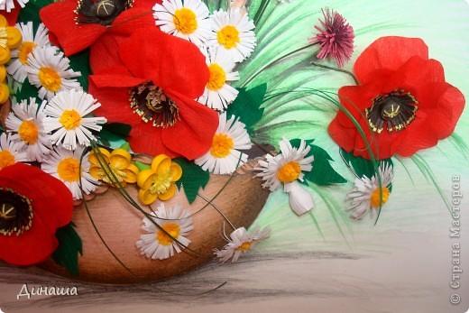 Цветы накрутила еще летом, но все не хватало времени и вдохновения собрать их вместе. Вот наконец решилась. Получилась корзина с маками. фото 3