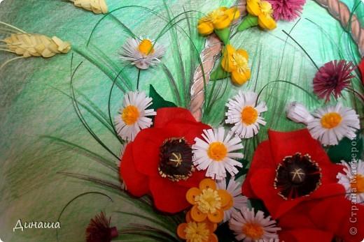 Цветы накрутила еще летом, но все не хватало времени и вдохновения собрать их вместе. Вот наконец решилась. Получилась корзина с маками. фото 4