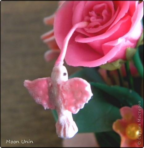 По мере освоения лепки набрались отдельные цветочки, которые я решила собрать в один букет. фото 5