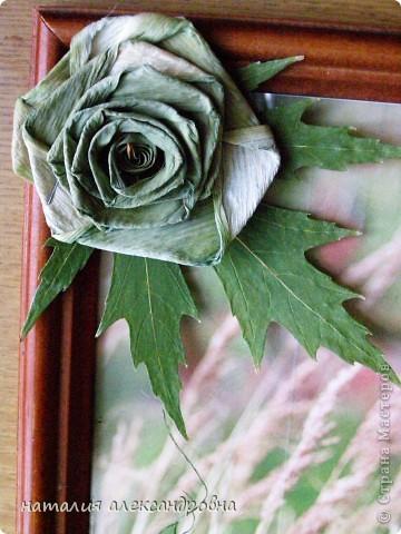 чтобы не портить клеем фотографию, приклеиваем весь флористический материал на стекло клеем ПВА, иногда двусторонним скотчем фото 5