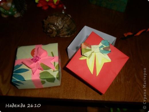 Вот такие замечательные коробочки у меня получились спасибо за МК http://stranamasterov.ru/node/100066?tid=451%2C1643 и бантики у меня тоже ничего МК тут http://stranamasterov.ru/node/17095?tid=451%2C560 тоже благодарю!!! фото 1