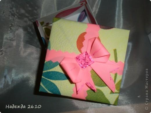 Вот такие замечательные коробочки у меня получились спасибо за МК http://stranamasterov.ru/node/100066?tid=451%2C1643 и бантики у меня тоже ничего МК тут http://stranamasterov.ru/node/17095?tid=451%2C560 тоже благодарю!!! фото 3