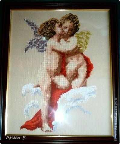 """Вышила """"Ангела на тучке"""" еще в 2008г, уж очень он мне понравился фото 2"""