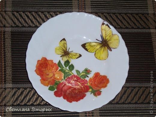 Цветы и бабочки. Моя первая работа. Прошу простить за блики от вспышки... фото 1