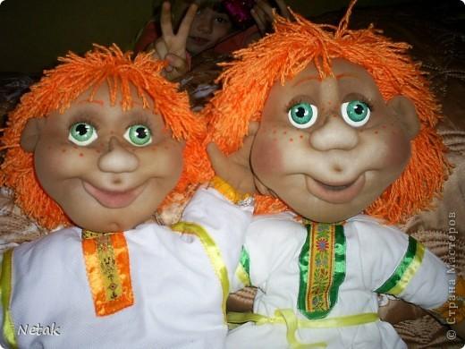 Вот таких Антошек попросили для детского дома  творчества в кукольный театр.(заказали одного ,но было вдохновение на двоих). фото 1
