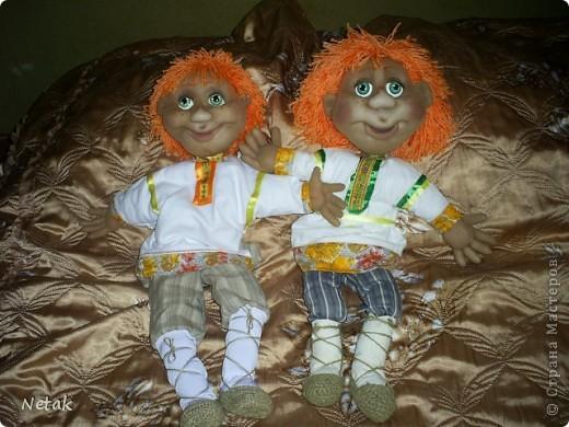 Вот таких Антошек попросили для детского дома  творчества в кукольный театр.(заказали одного ,но было вдохновение на двоих). фото 2